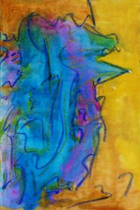 Abstract #43 (20x30) Gouache & Oil Pastel